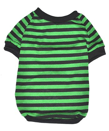 Green & Black Stripe Freddy Dog Shirt