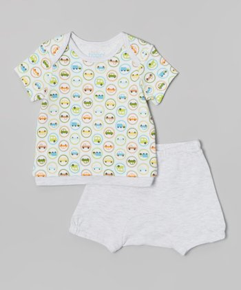 Athletic Heather Car Tee & Diaper Cover - Infant