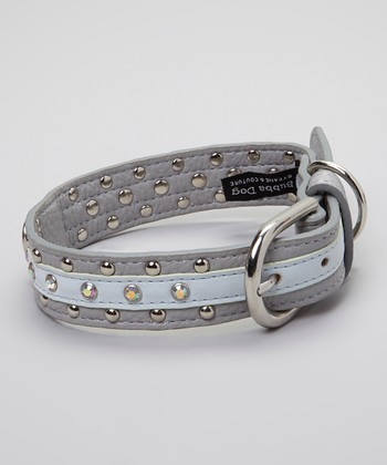 Silver Crystal Studded Remy Collar
