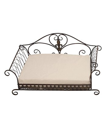 Black Scroll Frame Pet Bed
