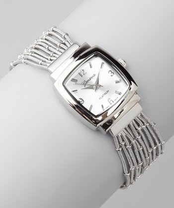 Silver Strands Bracelet Watch