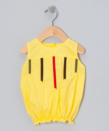 Yellow Stripe Button Top - Infant, Toddler & Girls