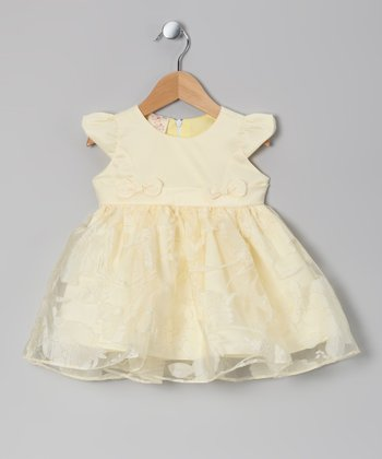 Yellow Bow Dress - Infant & Toddler