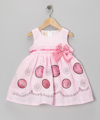 Pink Bow A-Line Dress - Toddler & Girls