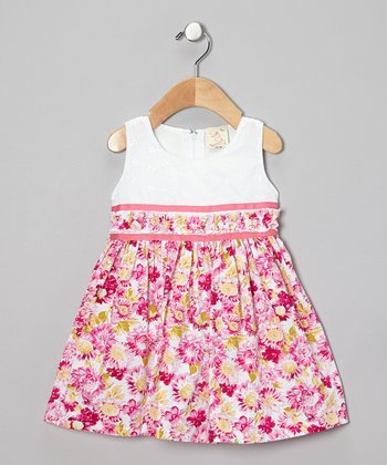 Pink Floral Eyelet Dress - Infant, Toddler & Girls