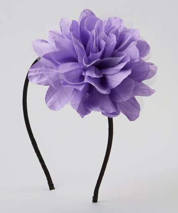 Lilac Chiffon Flower Headband