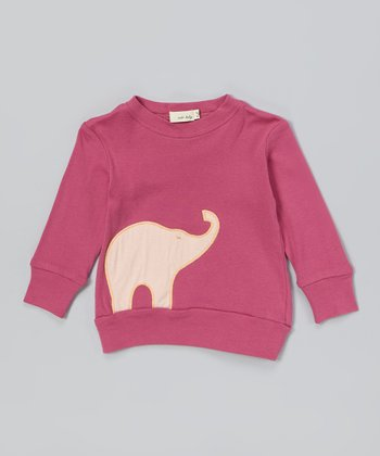 Rose Elephant Organic Sweatshirt - Infant
