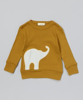 Brown Elephant Organic Sweatshirt - Infant