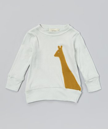 Blue Giraffe Organic Sweatshirt - Infant