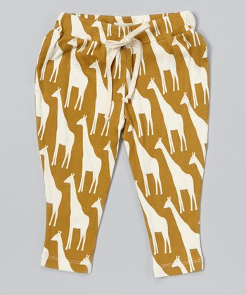 Brown Giraffe Organic Pants - Infant