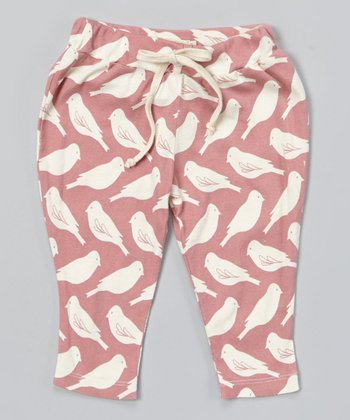 Pink Bird Organic Pants - Infant
