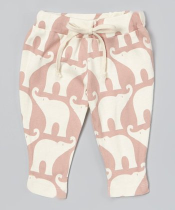 Rose Elephant Organic Pants - Infant