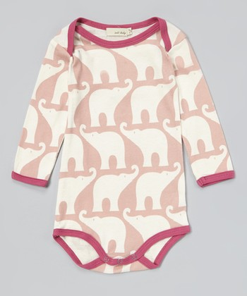 Rose Elephant Organic Bodysuit - Infant
