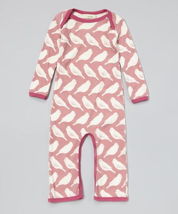 Pink Bird Organic Playsuit - Infant