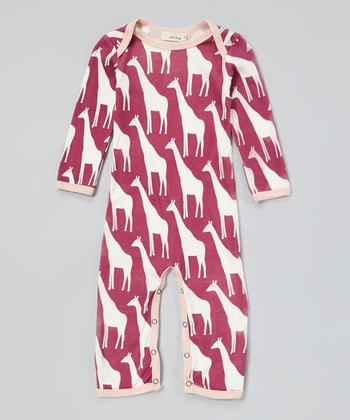 Violet Giraffe Organic Playsuit - Infant