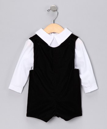 Black Button-Up & Romper - Infant