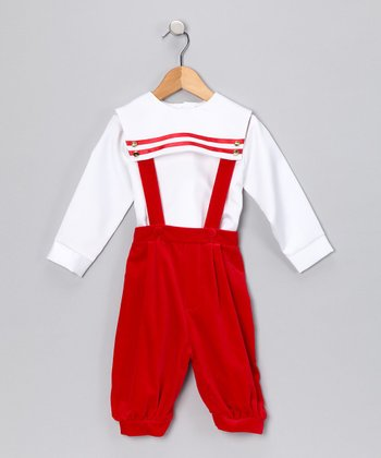 Red Velvet Shirt & Pants - Infant & Toddler