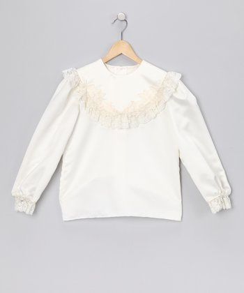 Ivory Lace Top - Infant & Girls