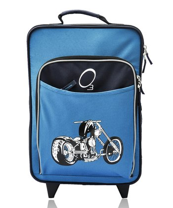 Blue Motorcycle All-in-One Rolling Suitcase