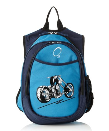 Blue Motorcycle All-in-One Backpack