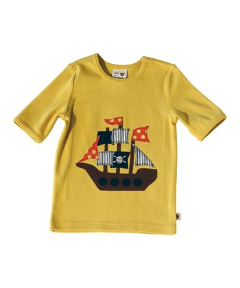 Yellow Pirate Ship Tee - Infant & Toddler