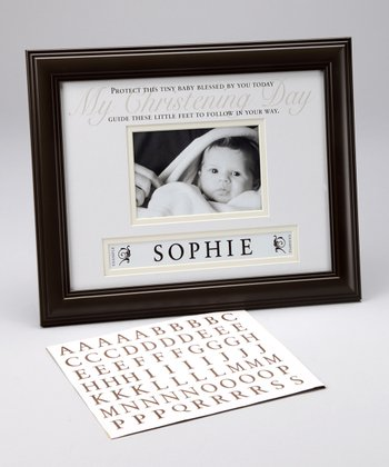 Brown 'My Christening Day' Personalized 4'' x 6'' Frame
