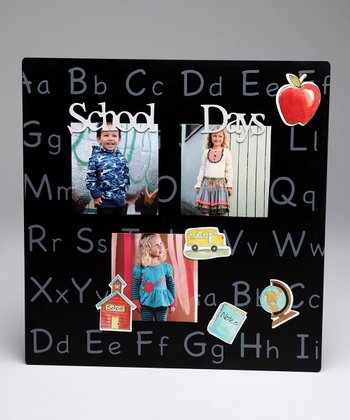 Black 'School Days' Magnetic Collage Photo Board