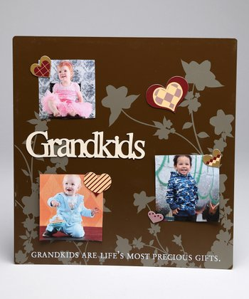 Brown 'Grandkids' Magnetic Collage Photo Board