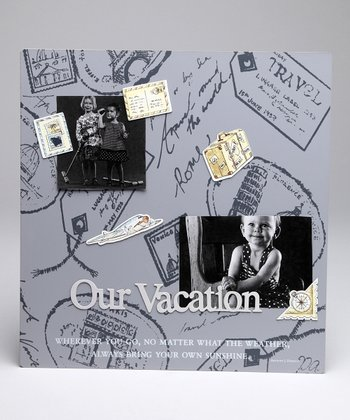 Gray 'Our Vacation' Magnetic Photo Collage Board