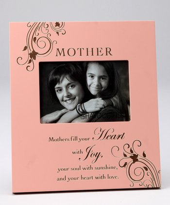 Peach 'Mother' Engraved Photo Frame