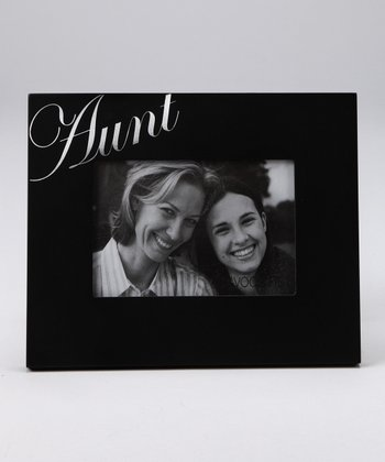 Foil-Stamped 'Aunt' Photo Frame