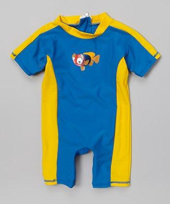 Blue Clownfish One-Piece Snap Rashguard - Infant & Toddler