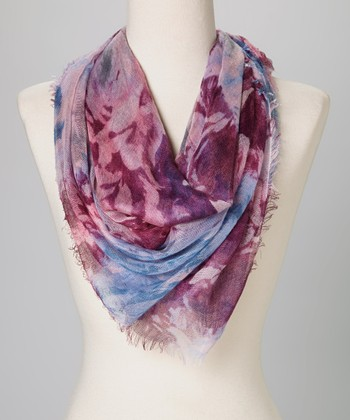 Betsey Johnson Purple Rock'n Rose Scarf