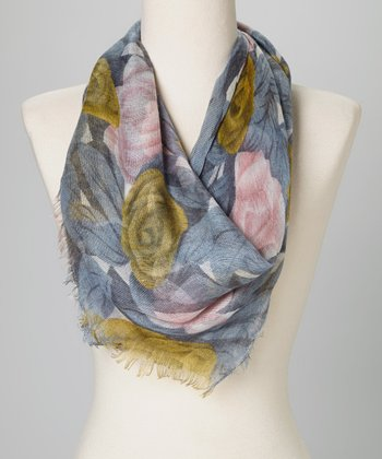 Betsey Johnson Blue Wicked Rose Scarf