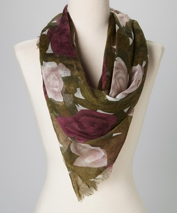 Betsey Johnson Purple Wicked Rose Scarf