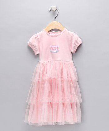 Pink Birthday Cake Tiered Tulle Dress - Infant & Toddler