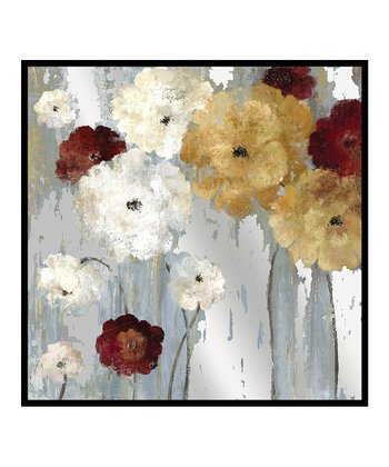 Red & White Bouquet II Mirror Wash Wall Art