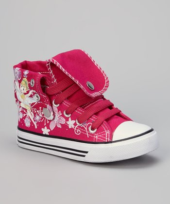 Fuchsia Flower Hi-Top Sneaker