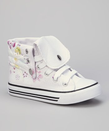 White Flower Hi-Top Sneaker