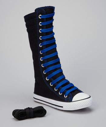 Black & Royal Knee-High Sneaker