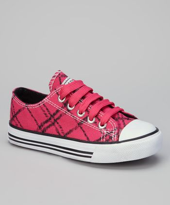 Fuchsia & Black Fencenet Sneaker