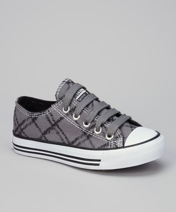 Gray & Black Fence-Net Sneaker