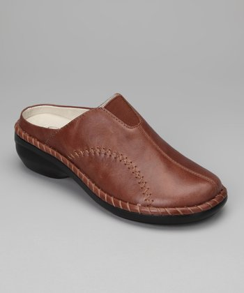 Chestnut Monterrey Leather Mule