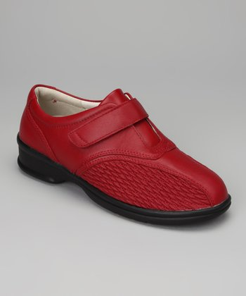 Chili Red Prudence Leather Slip On
