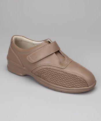 Taupe Prudence Leather Slip On