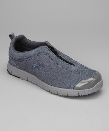 Denim Sky Blue Suede Travel Walker Zip Sneaker