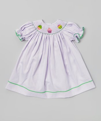 Purple Cupcake Bishop Dress - Infant, Toddler & Girls