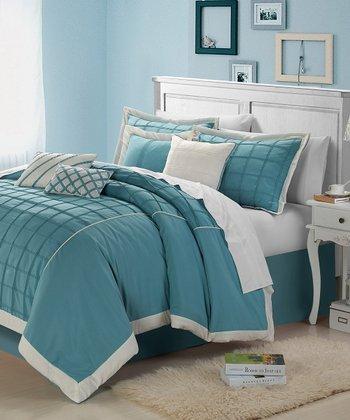 Aqua Rhodes Comforter Set