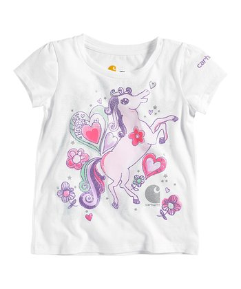 White I Love Horses Tee - Infant & Toddler