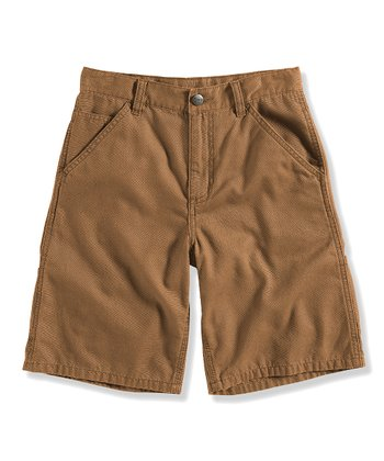 Sand Canvas Dungaree Shorts - Infant, Toddler & Boys